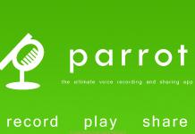 parrot voice recorder for blackberry 10