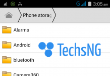 hiding files on android device