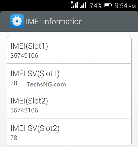 old imei numbers on infinix hot
