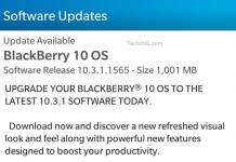 Blackberry 10 OS 10.3.1