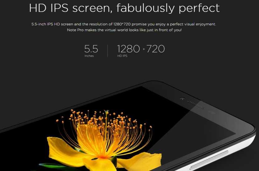 innjoo note pro screen size