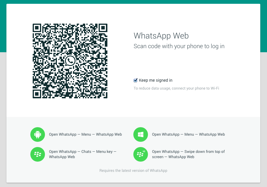 whatsapp web feature on mozilla firefox