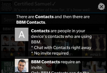 BBM contacts on latest bbm app