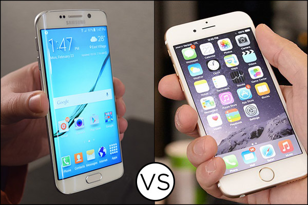 Galaxy s6 vs iPhone 6 in drop test video