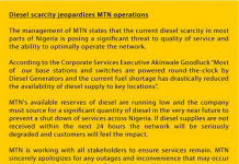 mtn tweet on fuel scarcity