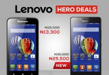 lenovo phones on jumia mobile week