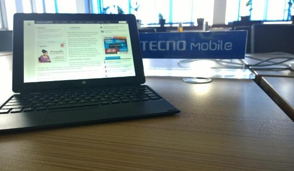 Tecno Win-Pad 10 used as laptop