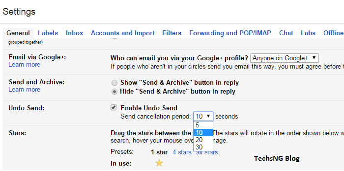 how to Undo Sent emails on gmail using the undo send feature
