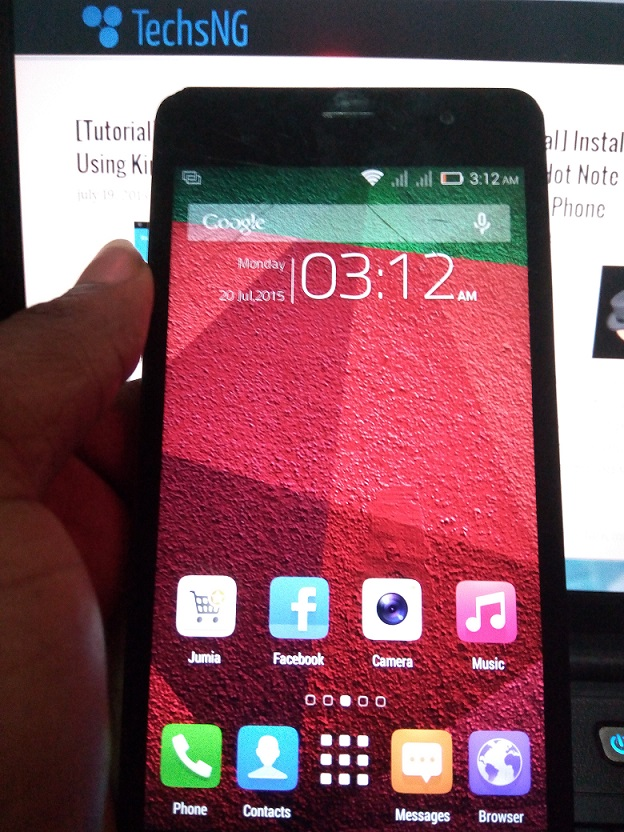 Unbricked infinix hot note android phone