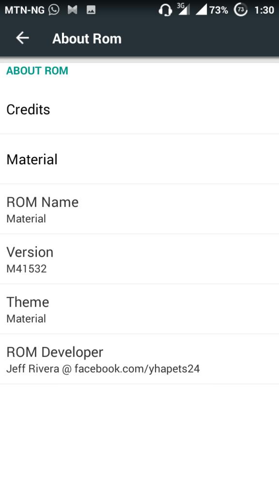 material custom rom2