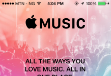 Music Player on iPhone running iOS 8.4
