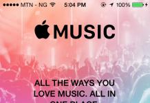 Music Player on iPhone running iOS 8.4