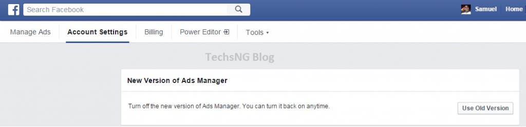 revert to old facebook ads design