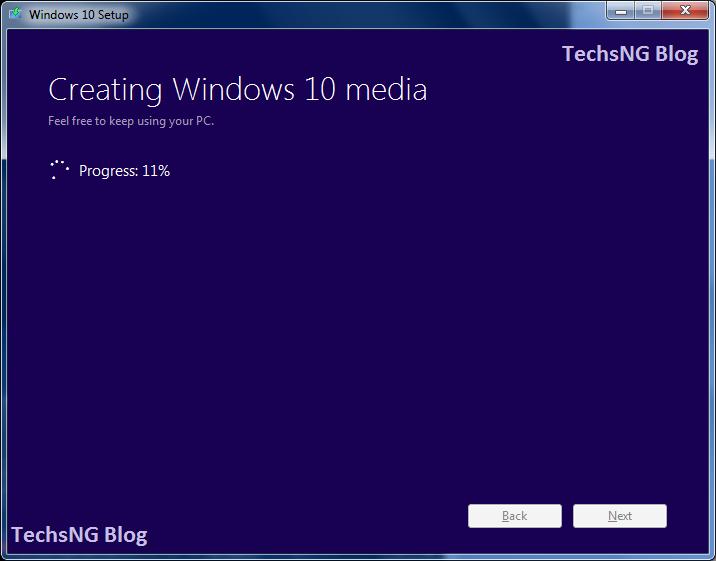 creating windows 10 media on PC