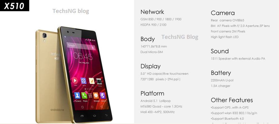 infinix hot 2, hottest one specs