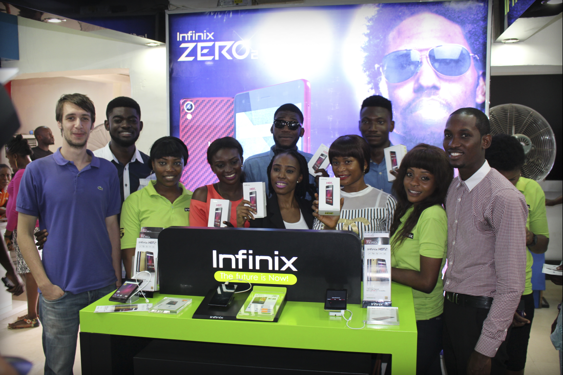 Infinix Mobility team during the hot 2 launch