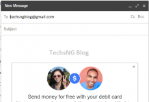 Send, receive and request money using gmail