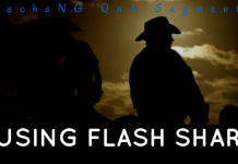 Using flash share on blackberry phones