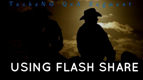 Using flash share on blackberry phones