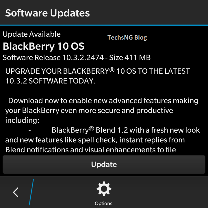 Latest blackberry OS update