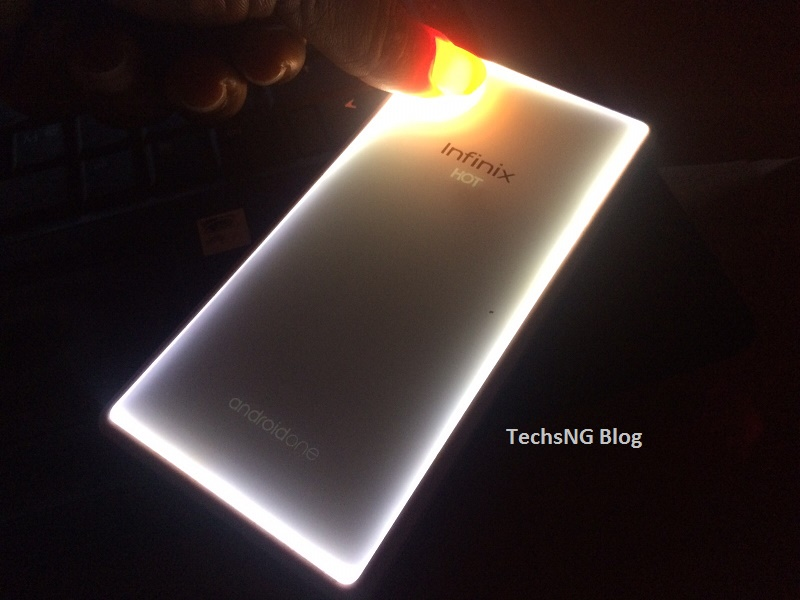 Infinix hot 2 back cover glows