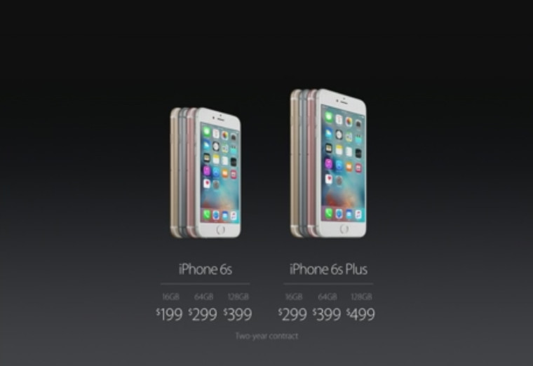 price of iPhone 6s and iPhone 6s plus