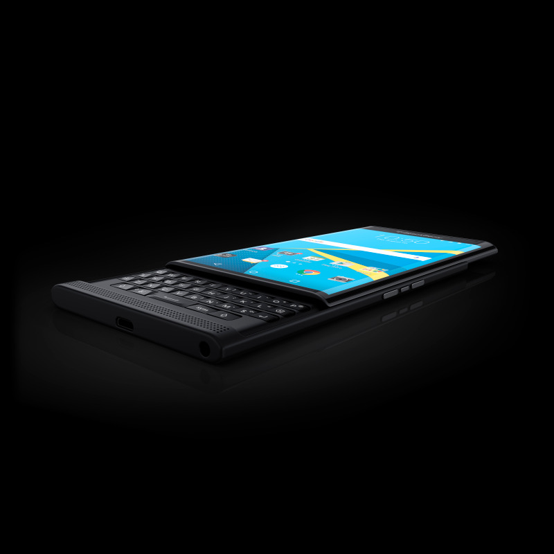 Blackberry Priv phone angle view