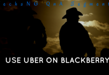 Using Uber apk app on blackberry 10 phone