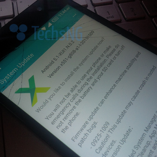 Infinix hot note x551 running Android 5 1 Lollipop gets