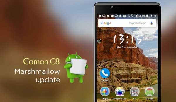 Tecno Camon C8 gets android marshmallow update