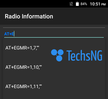 choosing option while changing imei
