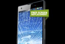 damaged infinix phone