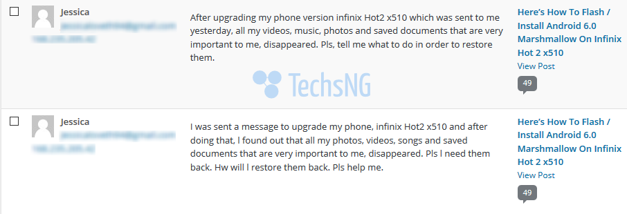 infinix hot 2 marshmallow issue