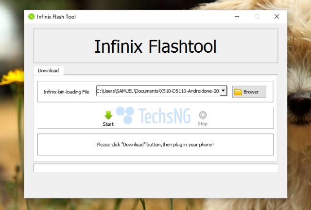 using infinix flash tool