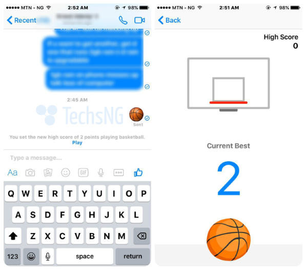 play basketball game on facebook messenger