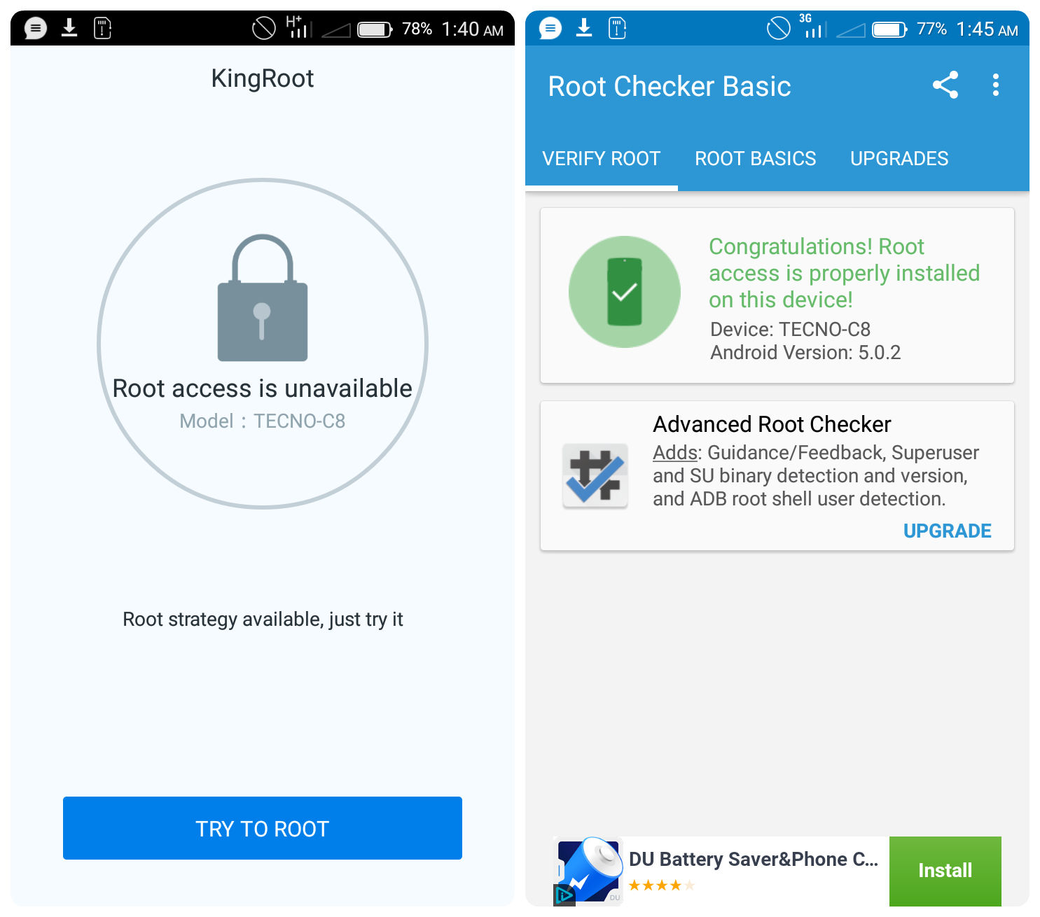 tecno c8 successfully rooted