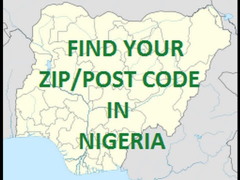 zip postal code of cities in Nigeria