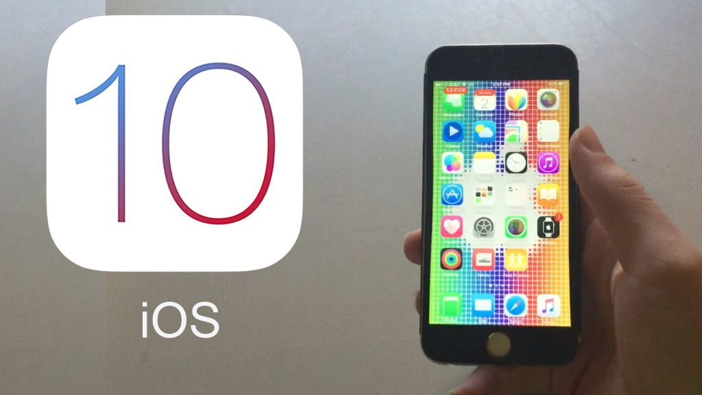 iOS 10 OS running on iPhone or iPad