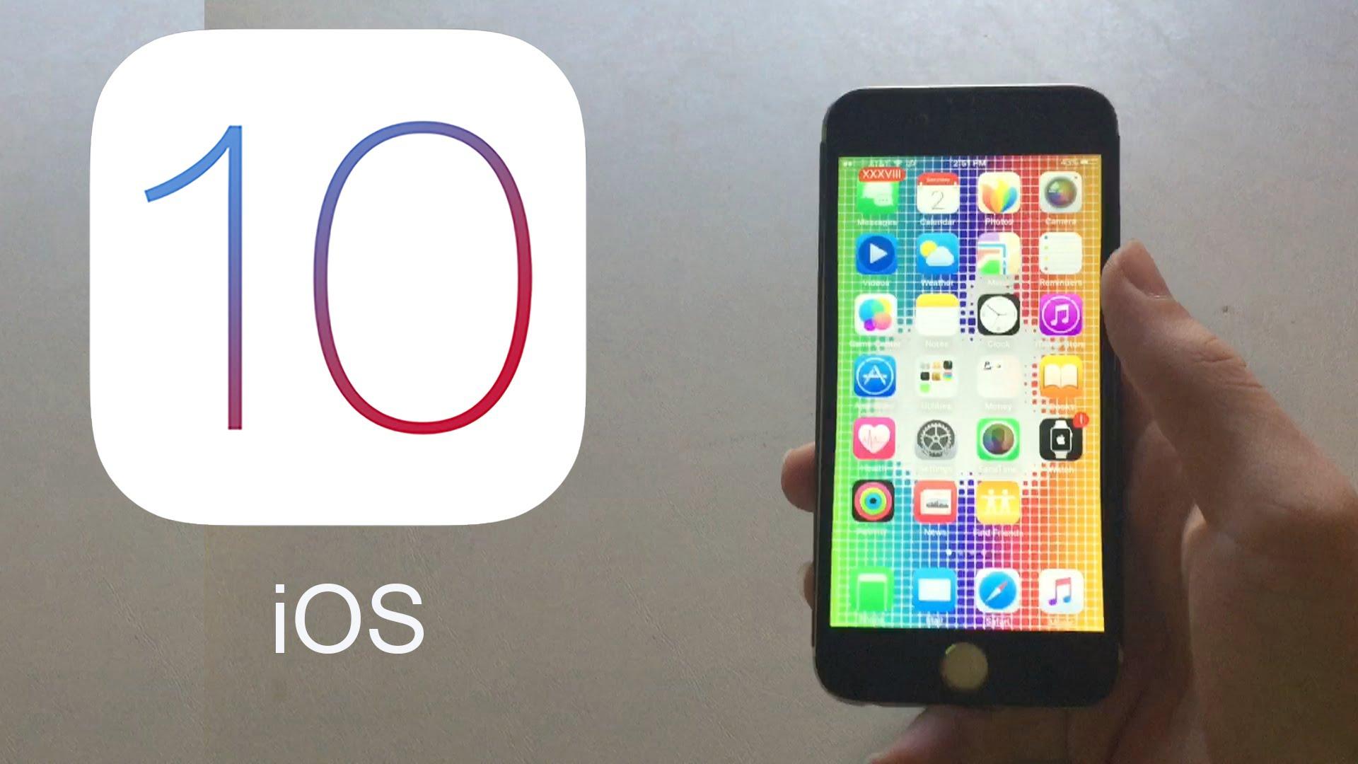 iOS 10 OS running on iPhone or iPad