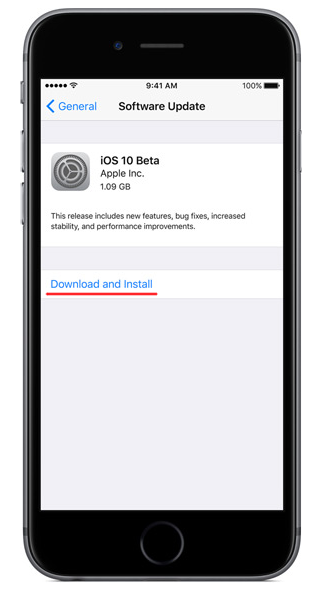 install iOS 10 on iPhone or iPad step 5