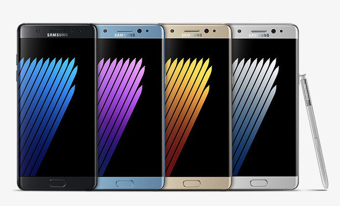 samsung galaxy Note 7 color options