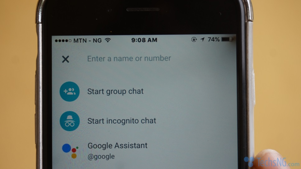 chat options on google allo
