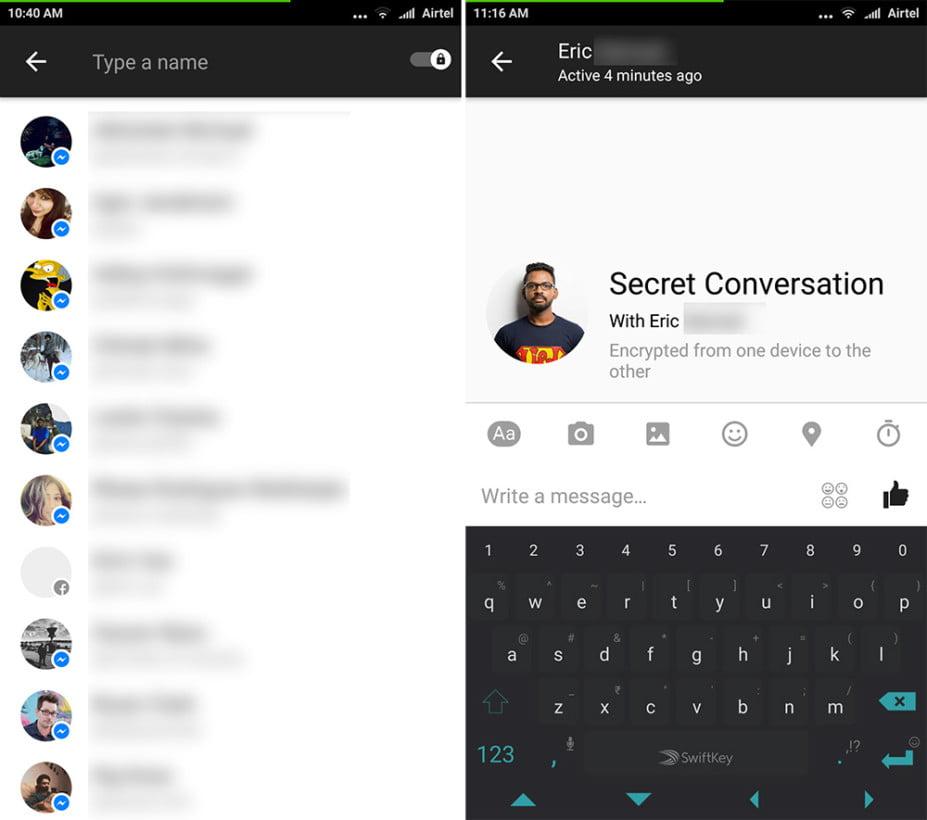 turn on end to end encryption on facebook messenger