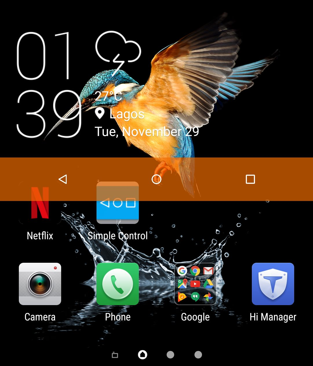 Alternative Menu buttons on Android phone