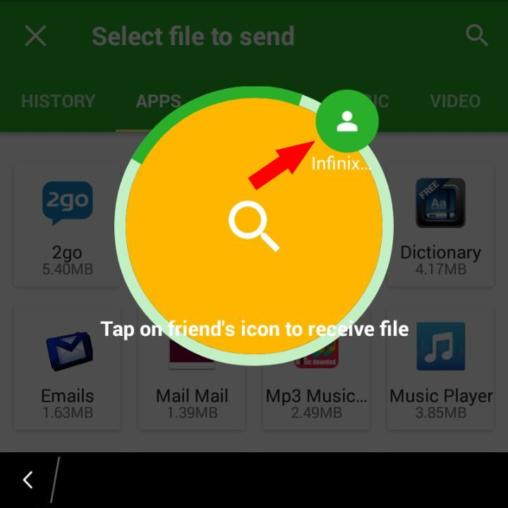 Android Phone found on Xender for Blackberry search