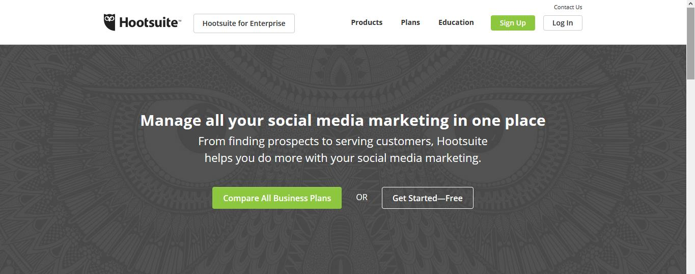 Hootsuite auto Social sharing service