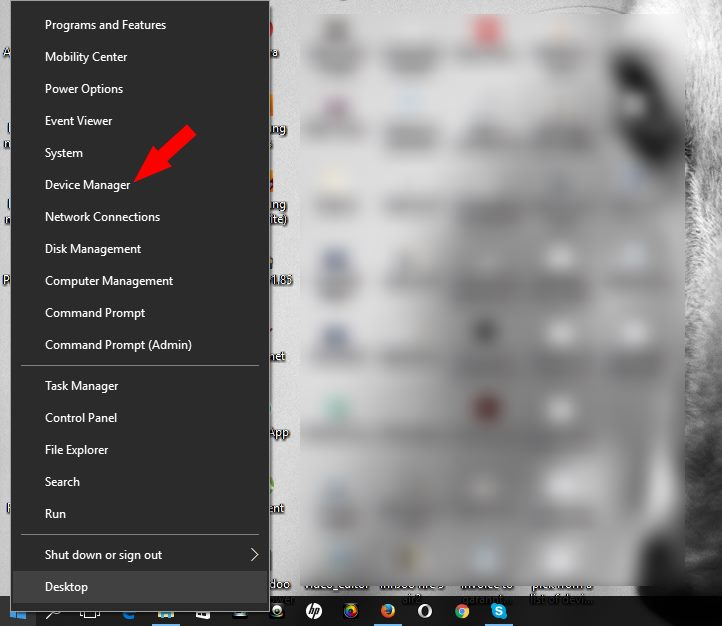 device manager on windows 10 computer
