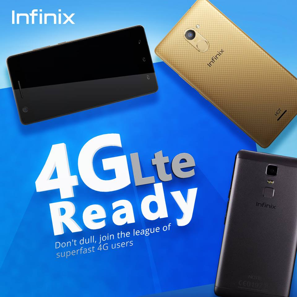 infinix android phones in Nigeria with 4G LTE network support