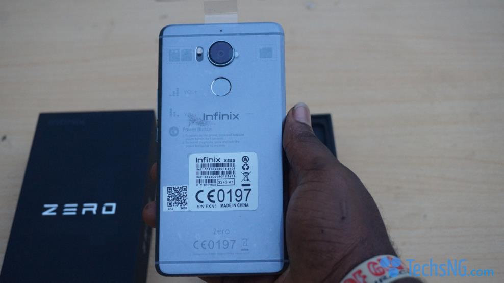 infinix zero 4 back view out of box