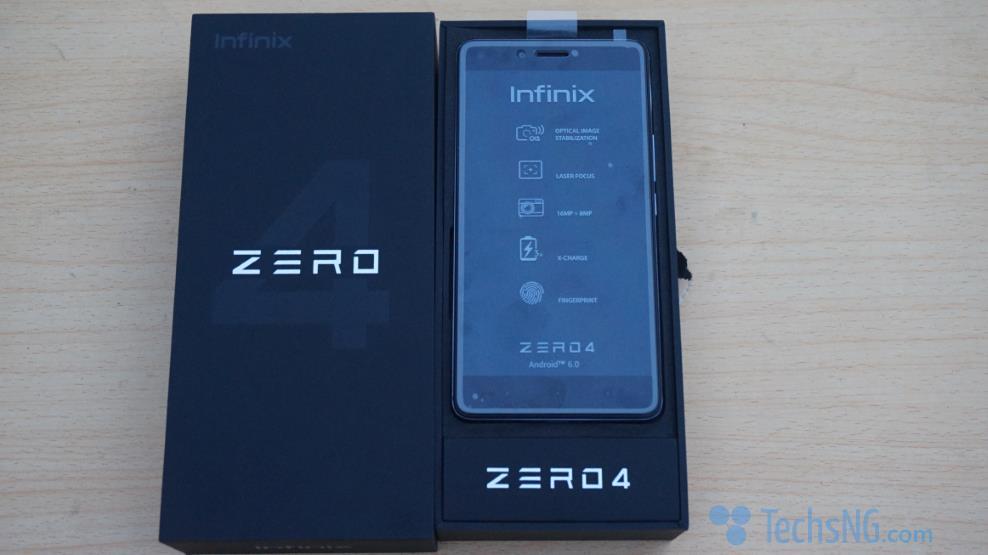 Infinix Zero 4 unboxing in progress